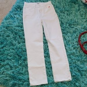 nwt ladies paige hoxton straight ankle white jeans
